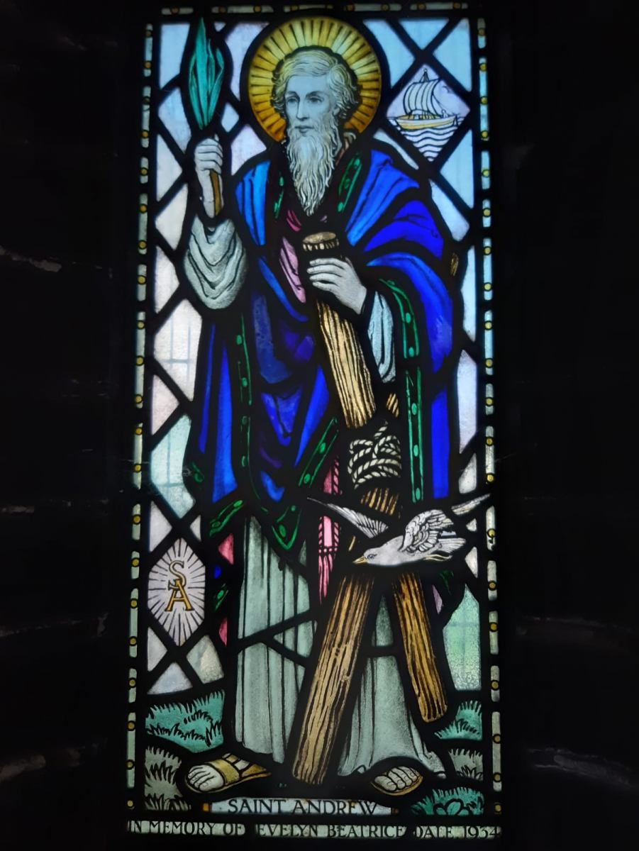St-Andrew-has-his-Cross-with-rope.