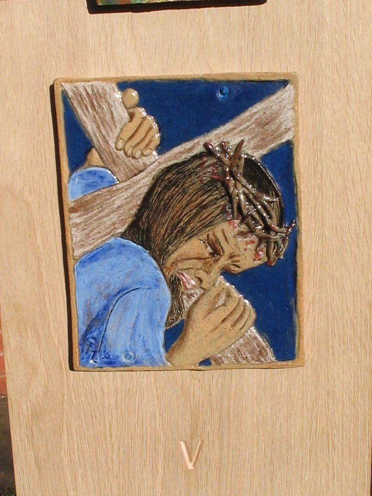 5. Jesus takes up his cross.